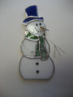 Stained glass Frosty the Snowman