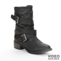 Candie's Midcalf Moto Boots - Women