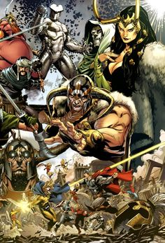 Asgardians - Mark Brooks