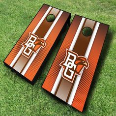These officially licensed NCAA Bowling Green Falcons cornhole boards are great for displaying collegiate pride at tailgates, cookouts, and other...