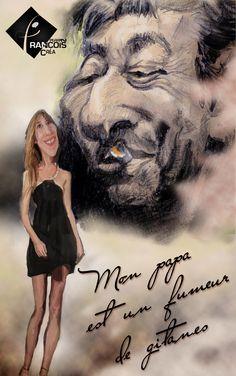 Caricature Charlotte & Serge Gainsbourg