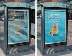 Bizion > 마케팅 > 햇빛을 가려주는 버스 정류장 '광고 블라인드'