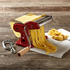 Imperia pasta machine - hand-crank design first introduced in 1932, targeting the Italian immigrant market - still sleek and classy 90 years on ($69.95 at Williams-Sonoma)