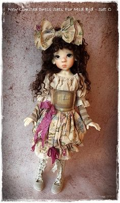 New Limited Sets Have Arrived For Msd Bjd - Set C - Kaye Wiggs  Or Other Msd #DollswithClothingAccessories