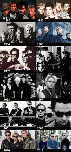 #depeche mode, they've changed looks but not style. Still awesome as ever!!
