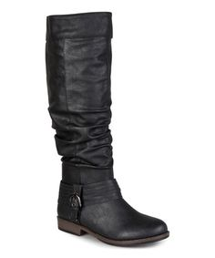 This Black Emma Wide-Calf Boot by Journee Collection is perfect! #zulilyfinds