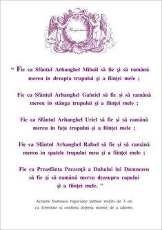 Rugaciune Arhangheli Good Vibes Only, Qoutes, Prayers, Alphabet, Spirituality, God, Remedies, Blessed, Earth