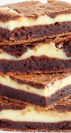 Cheesecake Brownie Bars Recipe ~ Chewy,  fudgy brownies swirled with creamy cheesecake