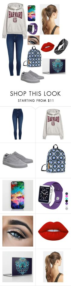 """""""Untitled #82"""" by babybosley9 ❤ liked on Polyvore featuring River Island, Vans, Tory Burch, Apple, Lime Crime, France Luxe and Forever 21"""
