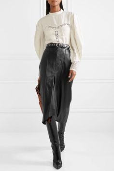 Swans Style is the top online fashion store for women. Shop sexy club dresses, jeans, shoes, bodysuits, skirts and more. Midi Rock Outfit, Midi Skirt Outfit, Denim Outfit, Skirt Outfits, Chic Outfits, Leather Midi Skirt, Black Midi Skirt, Pleated Skirt, Denim Skirt