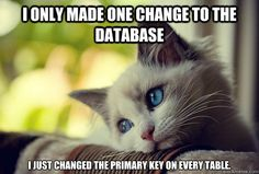 i only made one change to the database i just changed ...