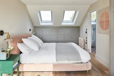 This Scandi-style loft bedroom is just dreamy Real home: this Scandi-style loft bedroom is just dreamy Interior Design Bedroom, Attic Bedroom Designs, Bedroom Decor, Loft Bathroom, Home, Dormer Loft Conversion, Bedroom Loft, Loft Spaces, Bedroom Design