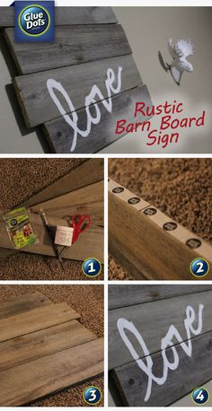 We'll show you how quick and easy it is for you to make a rustic looking barn sign for your home using Glue Dots and few extra supplies from your local hardware store.
