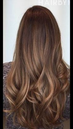 Are you familiar with Balayage hair? Balayage is a French word which means to sweep or paint. It is a sun kissed natural looking hair color that gives your hair . Chestnut Brown Hair, Hair Looks, Cool Hairstyles, Hairstyle Ideas, Updo Hairstyle, Wedding Hairstyles, Latest Hairstyles, Long Hairstyles With Layers, Straight Hairstyles