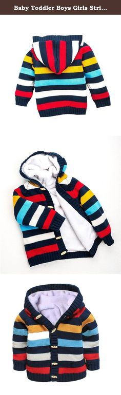 """Baby Toddler Boys Girls Striped Long Sleeve Sweaters Cardigan Warm Outerwear Jacket. Material:Cotton Inside material:Coral cashmere Colors:Dark Blue,Pink Style:baby Chrismas outerwear Theme:Chrismas Quantity:1 pc baby's outerwear Size:12-18months Length:38cm/14.82"""" Bust:62cm/24.18"""" Sleeve:29cm/11.31"""" Size:18-24months Length:40cm/15.60"""" Bust:66cm/25.74"""" Sleeve:31cm/12.09"""" Size:2T-3T Length:42cm/16.38"""" Bust:70cm/27.30"""" Sleeve:33cm/12.87"""" Size:3T-4T Length:44cm/17.16"""" Bust:74cm/28.86""""..."""