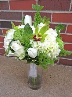 White and Green Bridal Bouquets | Bella Rosa Floral Design