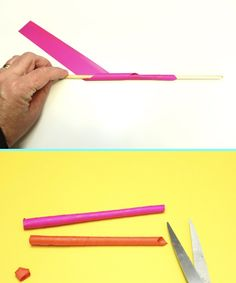 Paper Straw Seahorse – Make Film Play Wooden Craft Sticks, Wooden Crafts, Craft Stick Crafts, Crafts For Kids, Straw Art For Kids, Seahorse Crafts, Paper Glue, Yellow Paper, Paper Straws