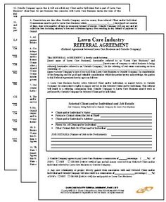 Lawn Maintenance Agreement 3 part The Perfect Contract-Lawn Care Ser Lawn Service Contract Template (wi Landscaping Contract Template – La CLIP's Tips Landscape Maintenance, Lawn Maintenance, Best Grass Seed, Lawn Care Business Cards, Contract Agreement, Lawn Care Tips, Lawn Service, Website Maintenance, Landscaping Company