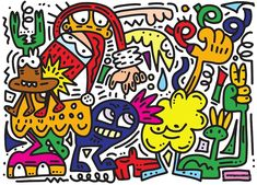 illustration of Doodle funny Christmas background ,Hand drawing Doodle Funny Doodles, Framed Prints, Canvas Prints, Graphic Design Trends, Abstract Images, Symbol Logo, Christmas Background, Christmas Humor, Graffiti Art