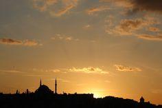 Balat üzerinde günbatımı