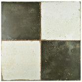 "Found it at AllModern - Royalty 17.75"" x 17.75"" Ceramic Field Tile in Black/White"