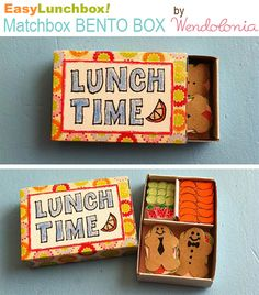 Matchbook Art - Bento Box by @Wendy Felts Copley