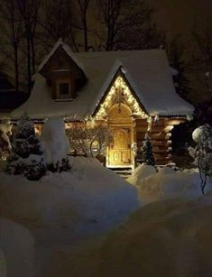 Winter Szenen, I Love Winter, Winter Cabin, Cozy Cabin, Cozy Cottage, Cozy House, Beautiful Homes, Beautiful Places, Cabin In The Woods