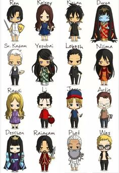 This is so cute! Characters from Tiger's Curse