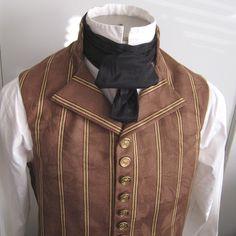 Silk Cravat, in stiff black taffeta, for Victorian and Edwardian men of discerning tastes