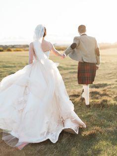 Bride & Groom Golden Hour Portrait - Eleganza Sposa Glasgow | Classic Country House Wedding…