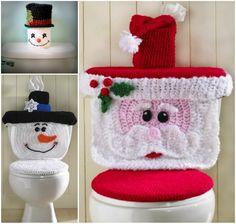 Christmas Crochet Toilet Seat Covers!