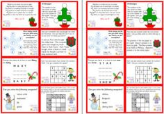 Puzzles, brain-teasers, activities and jokes to fill advent calendars or slip in to a lunch box.