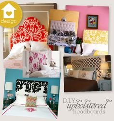 DIY headboards.. I will definitely be trying this out this summer!! What a great way to get a headboard custom made to suit your room while staying inexpensive :)