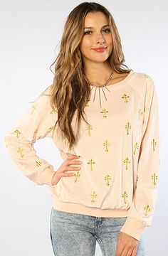 The Mutiny Barcelona Velour Crewneck in Pink Peony by Wildfox #MissKL #WinYourPin