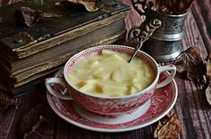 A fahéjtól pikáns, a gyömbértől üde... Creative Food, Soup Recipes, Food And Drink, Pudding, Vegan, Cooking, Ethnic Recipes, Easy, Cream Soups