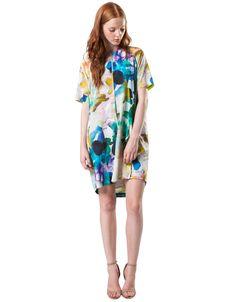 lifewithbird collide silk shift dress