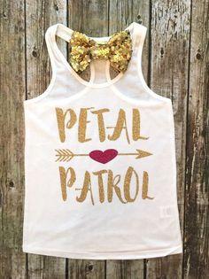 Petal Patrol Flower Girl Shirts - BellaPiccoli For Peyton Gifts For Wedding Party, Wedding Tips, Wedding Planning, Wedding Venues, Wedding Stuff, Wedding Album, Wedding Places, Wedding Hair, Wedding Dresses