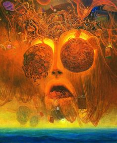 Zdzislaw Beksinski (1929 – 2005) was a renowned Polish painter, photographer, and fantasy artist.