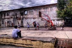 Philippines. Street kids playing basketball. #Street #Basketball #Philippines…