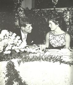 JFK & Jackie Kennedy ~~~ Beauty Couple ...Rare ....So Names Double ♛J ♡J ♛Wow    http://en.wikipedia.org/wiki/Jacqueline_Kennedy_Onassis       http://en.wikipedia.org/wiki/John_F._Kennedy