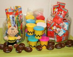 Charlie Brown goodie bag station