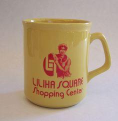 Rare Hawaiian Liliha Square Shopping Center Coffee Mug #hawaiian #coffeemug