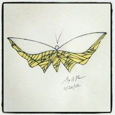 100 Butterflies in 100 Days, Day 50 - Halfway, Medium: Color Pencil