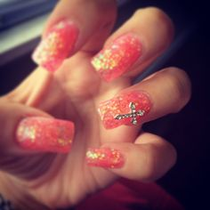 glitter with cross