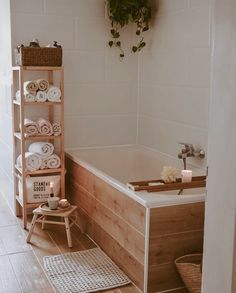 Hello Who needs a little spa at home loved this one from Boho Bathroom, Laundry In Bathroom, Bathroom Interior, Wc Bathroom, Bathroom Ideas, Bathrooms, Bad Inspiration, Bathroom Inspiration, Humble House