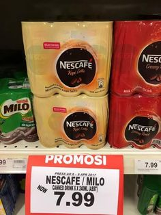"""Nescafe 6x240ml Cans RM7.99 Cheapest at both Giant & Tesco today!  Save up to RM4.21(35%) per pack when you compare at SmartShopper first before deciding """"Where To Shop Today?""""  Count on SmartShopper App to always bring you the best price on your favourite grocery items and save, Save, SAVE!  Compare and save now, download here: smartshopper.my/get #fashion #style #stylish #love #me #cute #photooftheday #nails #hair #beauty #beautiful #design #model #dress #shoes #heels #styles #outfit…"""