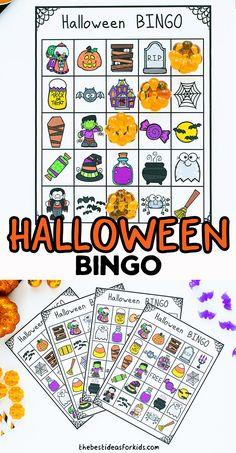 Halloween Bingo Cards, Halloween Crafts, Halloween Decorations, Science Activities For Kids, Summer Activities, Easy Crafts For Kids, Toddler Crafts, Simple Girl, Kids Cards