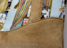 Tips for Sewing with Cuddle Suede | Studio Kat Designs  - TriplePlay bag In beautiful neutrals #CuddleSuede  -http://www.shannonfabrics.com/suede
