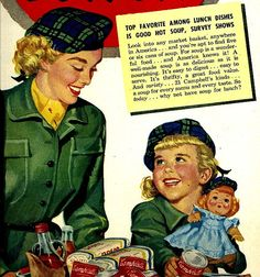 I love these vintage mother and daughter ads...