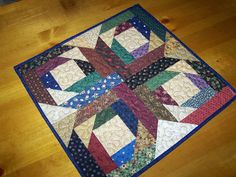 Log Cabin scrappy star - could be made into a cross